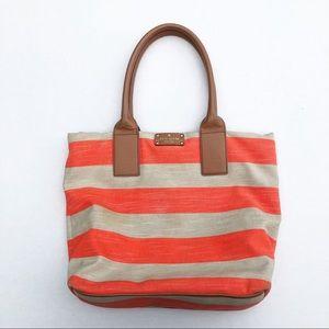 KATE SPADE Jubilee stripe Bon Shopper TOTE purse